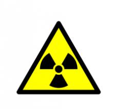 """Icon: Zeichen für """"Radioaktiv"""" (Gelbes Dreieck mit Atomzeichen)"""