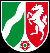 Das Landeswappen von Nordrhein-Westfalen